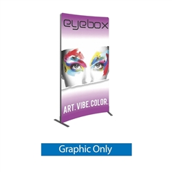 5ft x 8ft Vector Frame Curved Banner 02-CR with push-fit Single Side fabric graphics to create a versatile single or double-sided banner, backwall or interior display. Back wall booth displays offer a variety of options for customizing trade show space