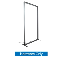 5ft x 8ft Vector Frame Curved Display 02-CR Hardware Only.  Create a versatile single or double-sided banner, backwall or interior display. Back wall booth displays offer a variety of options for customizing trade show space