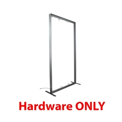 6ft x 8ft Vector Frame Curved Display 03-CR Hardware with push-fit fabric graphics to create a versatile single or double-sided banner, backwall or interior display. Back wall booth displays offer a variety of options for customizing.