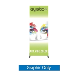 Single Side Graphic for 3ft x 8ft Vector Frame Rectangle 06 Fabric Display to create a versatile single or double-sided banner, backwall or interior display. Back wall booth displays offer a variety of options f