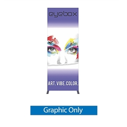 Single-Side Graphic for 3ft x 8ft Vector Frame Light Box Rectangle 06 ( Backwall Displays) is an indoor aluminum extrusion frame system. Get maximum visibility at your next show with a backlit Vector fabric display.