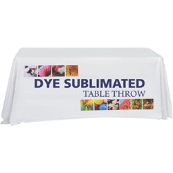 Table Throw - Stylish and elegant, table throws professionally present your company image at events and trade shows. These premium quality polyester twill table throws are easy to care for and can be easily washed. The stain and wrinkle resistant.
