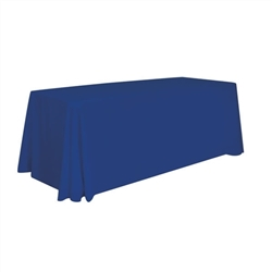 8' Economy Imprinted Table Throw - Blank - Stylish and elegant, table throws professionally present your company image at events and trade shows. These premium quality polyester twill table throws are easy to care for and can be easily washed. The stain a