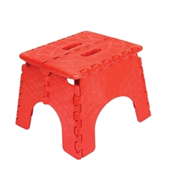 "This convenient EZ FOLDZ Step Stool is the perfect accessory to assist you. At 9"" high, it is just the boost you need when something is just beyond your reach."