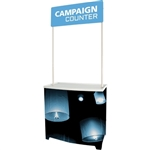 Campaign Promotional Counter with Graphic for events and trade show. Campaign indoor and outdoor road show promotional counter comes with a handy carry bag, set of poles and an eye catching header, ideal solution for retail promotion.