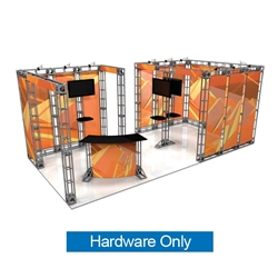 This 10ft x 15ft custom trade show truss system will help you stand out at the next trade show, drawing attention from across the exhibit floor.  Truss exhibits are one of the most structurally elaborate trade show displays.