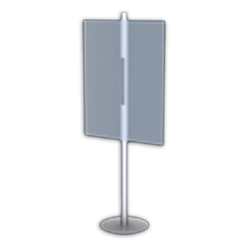 Table Top Placard Stands 2 Sided Round Base Black are specially constructed with a simple and contemporary design to easily coordinate with any retail store. Placard Stand Holders and Stands for Art, Sign and Plate Presentation
