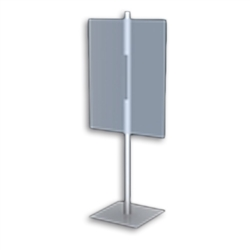 Table Top Placard Stands 2 Sided Square Base Black are specially constructed with a simple and contemporary design to easily coordinate with any retail store. Placard Stand Holders and Stands for Art, Sign and Plate Presentation