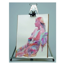 26in Height Testrite Deluxe Table Easel are used as a vertical, and sometimes horizontal, support to either display finished artworks or to use as an actual working surface. Testrite Table Easels available in a wide range of sizes.