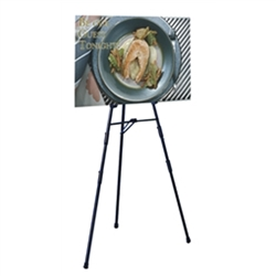 Convention, trade show & hotel 6ft black easel display with 4 sets of chart holders. Many different types of artist easels, lightweight aluminum easels, superior strength steel easels. Easels are used as a vertical, and sometimes horizontal