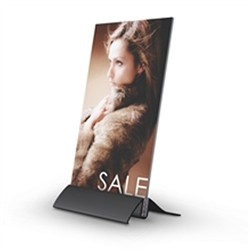 5.5in x 7in Arctop Angled Base Silver SignHolders. Wide selection of countertop sign holders including metal tabletop sign holders, tabletop frame stand, aluminum countertop sign holders, tabletop frames, countertop swivel tilting frame stand.