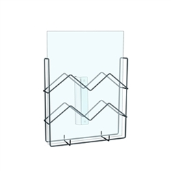 4in x 2in Pamphlet Snap-On Wire Brochure Holder 0.75in diam. Save floor space by installing a Pamphlet Literature Holders organizers, and for a flexible display option, choose sign holders and brochure holders.