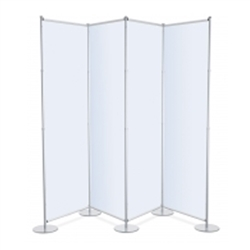 96inin x 36in Fixed Width Partition Trade Show Display Telescopic Black Banner Stands are a great solution to exhibit your company's products at Trade Show Exhibits. Partition Backwall Bannerstand is a sturdy, freestanding floor free standing display