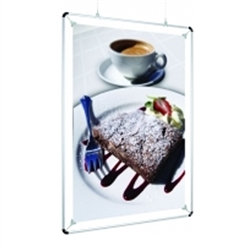 5.5in x 7in Black Clipster Poster Wall or Ceiling Mounting Frames. Clipster hanging poster frames, also known as graphic holders, will satisfy most any style or budget.Mounting Frames are an ideal method used to hang movie prints or signs from the ceiling