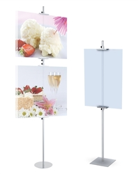 72in Simple Signholders 2 Sections & Square Base Black. Perfect for exhibits, retail, restaurants, trade shows and malls. SignHolders displays are portable, versatile and affordable. Perfect for exhibits, retail, restaurants, trade shows and malls.
