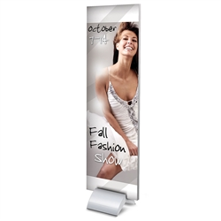 Curvette Mounts Stylish Board Supports designed to get your marketing message noticed on the trade show or retail floor. These store displays hold 14in custom graphics that are easy to replace & update.
