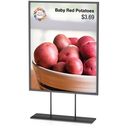 Framette CounterTop designed to get your marketing message noticed on the trade show or retail floor. These store displays hold 11in x 14in custom graphics that are easy to replace & update.
