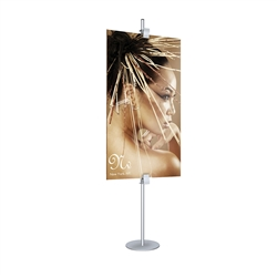 Extra Single-Sided Visual Clamps, Set Of 2 designed to get your marketing message noticed on the trade show or retail floor. These store displays hold 36in x 67in custom graphics that are easy to replace & update.