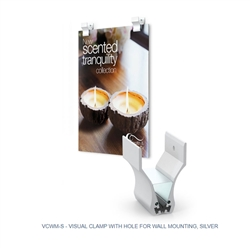 Visual Clamp W/ Wall Mounting Hole designed to get your marketing message noticed on the trade show or retail floor. These store displays hold 2in x 3in custom graphics that are easy to replace & update.