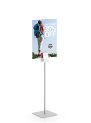 Clamp Stand Fixed Height designed to get your marketing message noticed on the trade show or retail floor. These store displays hold 12in custom graphics that are easy to replace & update.