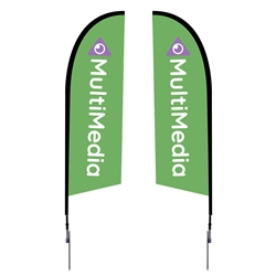 Outdoor promotional flag stands get your message noticed!  Custom printed 8.25ft  double-sided Falcon outdoor flags are perfect for retail stores, car dealerships, fairs, expos, trade shows and more to grab customer attention.