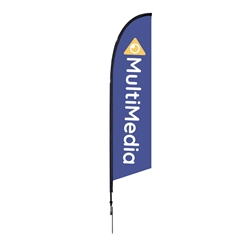 Outdoor promotional flag stands get your message noticed!  Custom printed 10.5ft  single-sided Falcon outdoor flags are perfect for retail stores, car dealerships, fairs, expos, trade shows and more to grab customer attention.