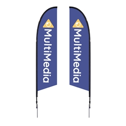 Outdoor promotional flag stands get your message noticed!  Custom printed 10.5ft  double-sided Falcon outdoor flags are perfect for retail stores, car dealerships, fairs, expos, trade shows and more to grab customer attention.