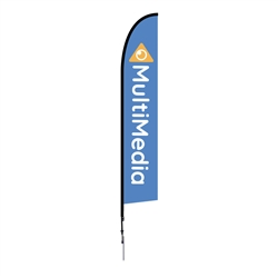 Outdoor promotional flag stands get your message noticed!  Custom printed 14ft  single-sided Falcon outdoor flags are perfect for retail stores, car dealerships, fairs, expos, trade shows and more to grab customer attention.