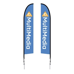 Outdoor promotional flag stands get your message noticed!  Custom printed 14ft  double-sided Falcon outdoor flags are perfect for retail stores, car dealerships, fairs, expos, trade shows and more to grab customer attention.
