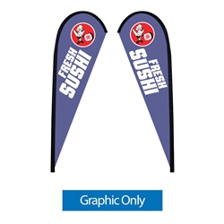 Outdoor promotional flags get your message noticed!  Custom printed 9ft Sunbrid double-sided Teardrop outdoor flags are perfect for retail stores, car dealerships, fairs, expos, trade shows and more to grab customer attention.