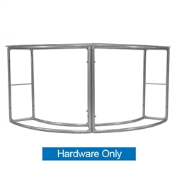 EZ Tube Curved Double Fabric Counter | Hardware Only
