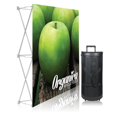 5 ft. Ready Pop Fabric Display Straight Single-Sided Graphic Package (NO Endcaps). Fabric popup displays are the FASTEST booth on the market to setup. Table top trade show displays are enhance or upgrade a simple booth or exhibit