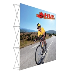 8ft x 8ft Straight RPL Fabric Pop Up Display Single Sided NO Endcaps is the inlightin version of our Ready Pop Fabric Pop Up Display. Still and awesome eye-catcher at your next trade show, the inLitein version comes with a very attractive price!