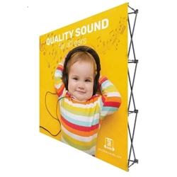 8ft x 8ft Straight RPL Fabric Pop Up Display w/o Endcaps is the light version of our Ready Pop Fabric Pop Up Display. Still and awesome eye-catcher at your next trade show, the Lite version comes with a very attractive price!