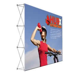 10ft x 8ft Straight RPL Fabric Pop Up Display NO Endcaps is the light version of our Ready Pop Fabric Pop Up Display. Still and awesome eye-catcher at your next trade show, the Lite version comes with a very attractive price!