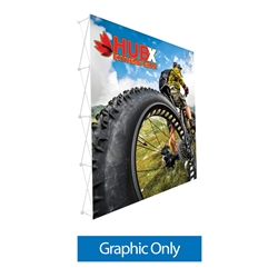10ft  x 10ft RPL Fabric Pop Up Display Straight - Graphic Only (NO Endcaps). It is the light version of our Ready Pop Fabric Pop Up Display. RPL displays reaches a height of 10 feet! 10ft x 10ft RPL Fabric Pop Up is the perfect display on the go.