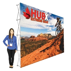 15ft x10ft Straight RPL Fabric Pop Up Display NO Endcaps is the light version of our Ready Pop Fabric Pop Up Display. RPL displays reaches a height of 10 feet! 10ft x 10ft RPL Fabric Pop Up is the perfect display on the go. It's ready in minutes.