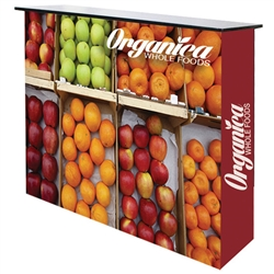 Our ultra lightweight aluminum alloy fabric pop-up table top display in a matte satin anodized finish is an ideal eye-catcher for your tradeshow, exhibition, or conference. Its versatility and simple 2-minute setup, as well as its velcro attachment