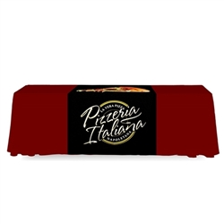 2 ft Table Runner Backless Dye Sub Print  - Stylish and elegant, table throws and runners professionally present your company image at events and trade shows. These premium quality