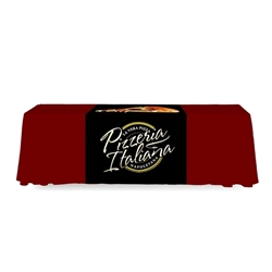 2 ft. Table Runner FullBack Dye Sub Print  - Stylish and elegant, table throws and runners professionally present your company image at events and trade shows. These premium quality