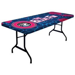 6ft One Choice Table Topper - Stylish and elegant, table throws professionally present your company image at events and trade shows. These premium quality polyester twill table throws are easy to care for and can be easily washed.