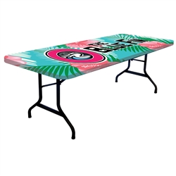 8ft One Choice Table Topper - Stylish and elegant, table throws professionally present your company image at events and trade shows. These premium quality polyester twill table throws are easy to care for and can be easily washed.