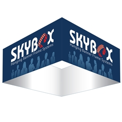 Skybox Square 8ft x 24in & Hanging Tension Fabric Banner (Single Sided) is a must have at your next trade show. These extra large hanging banners are produced from high quality fabric and enable you to been seen from practically anywhere