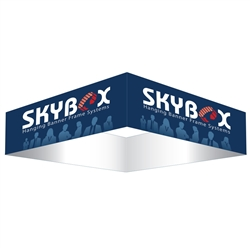 Skybox Square 20ft x 24in Hanging Tension Fabric Banner (Single Sided) is a must have at your next trade show. Square hanging signs for trade shows are designed to be eye catching. Skybox Fabric Hanging Banner hangs from ceiling over booth or exhibit