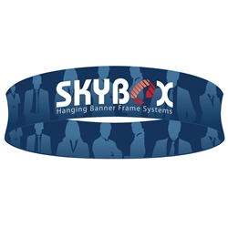 Skybox Circle 20ft x 24in Hanging Tension Fabric Sign (Double Sided) is a must have at your next trade show. Circle hanging banners on top booth or exhibit enable you to been seen from practically anywhere on trade show or convention