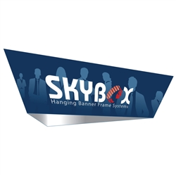 15ft x 5ft Tapered Triangle Skybox Hanging Banner | Single-Sided | Outside Graphic Kit