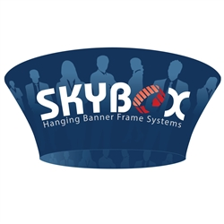 12ft x 3.5ft Tapered Circle Skybox Hanging Banner | Double-Sided | Inside & Outside Graphic Kit