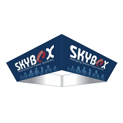 10ft x 42in Tapered Square Skybox Hanging Banner | Single-Sided | Outside Graphic Kit