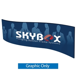 Skybox Wave 10ft x 36in Single Sided Hanging Tension Fabric Banner is a must have at your next trade show. These extra large hanging banners are produced from high quality fabric and enable you to been seen from practically anywhere at your trade show.