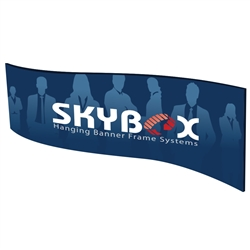Skybox Wave 10ft x 36in Double Sided Hanging Tension Fabric Banner is a must have at your next trade show. These extra large hanging banners are produced from high quality fabric and enable you to been seen from practically anywhere at your trade show.